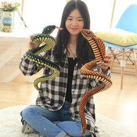 Simulation Cobra and Python Snake Plush Toy Funny Gift for Children