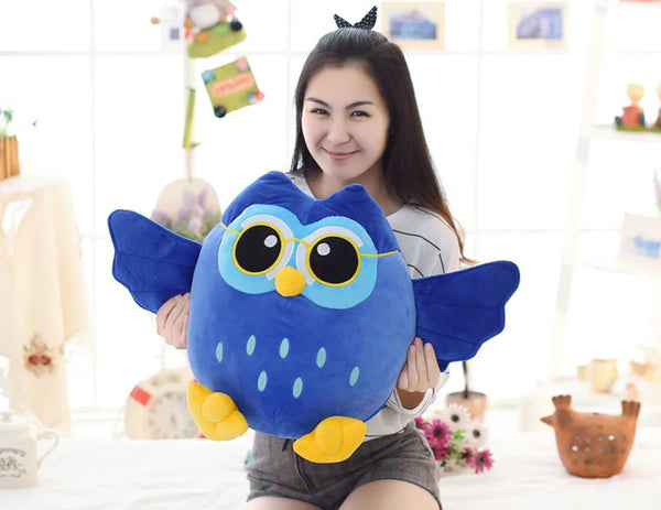 Cute Cartoon Plush Owl Animal Doll Soft Stuffed Kids Pillow Baby Toy
