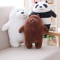 Cartoon Bear Plush Toy Soft Stuffed Animal Bear Panda Doll Pillow