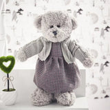 Plush Teddy Bear In Sweater Super Cute Bear Doll Stuffed Kids Toy