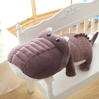 Giant Stuffed Pink Crocodile Animal Toy Kids Bedding Toy Plush Pillow