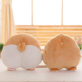 Cartoon Corgi Dog Butt Plush Toy Cushion Cute Animal Hand Warm