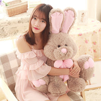 Giant Soft Stuffed Fat Rabbit Pillow Cute Plush Bunny Baby Animal Toy