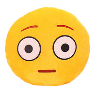 32cm Emoji Emoticon Yellow Round Cushion Stuffed Plush Soft Pillow Role Play Games Accessories Gift for Kids