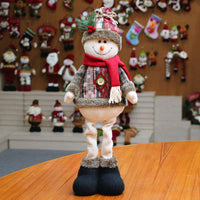 Decorations for Christmas Soft Santa Claus Toy for Kids Cute Snowman