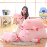 Cartoon Pink Pig Plush Toys Soft Stuffed Fat Pig Pillow Cushion Doll
