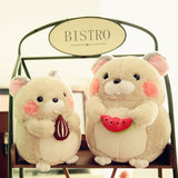 Cartoon Animal Toy Soft Stuffed Hamster Doll Kids Gifts Plush Doll