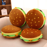 Big Hamburger Pillow Cushion Soft Stuffed Food Plush Toys
