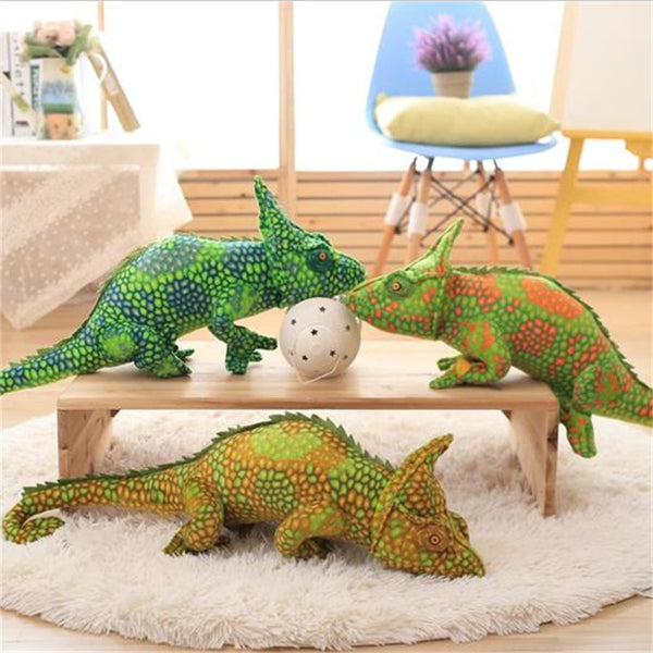 Large Cute Green Chameleon Doll Soft Plush Lizard Pillow Kids Gifts