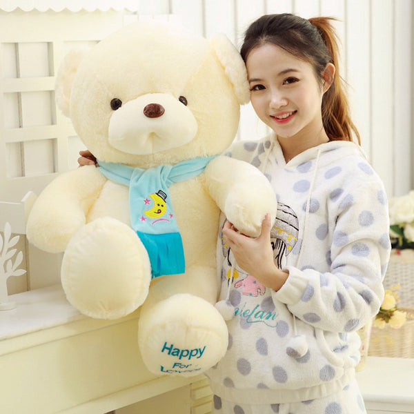 Soft White Color Stuffed Teddy Bear Toy Plush Animal Doll Kids Pillow