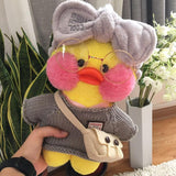 Cute Plush Dressed Up Duck Doll Cartoon Soft Duck Stuffed Animal Toy
