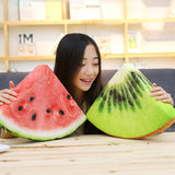 Simulation Stuffed Watermelon Kiwi Fruit Orange Cushion Plush Toy