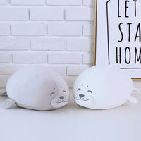Cute Soft Stuffed Animal Doll Seal Plush Toy Baby Sleeping Pillow