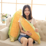 3D Vegetable Plush Toy Soft Stuffed Yellow Corn Pillow Sofa Cushion