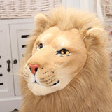 Giant Realistic Stuffed Lion Toy Soft Plush Animal Pillow Kids Gift