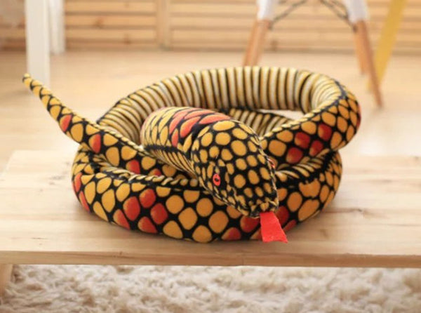 Realistic Giant Stuffed Animal Snake Toy Plush Funny Doll Kids Toy