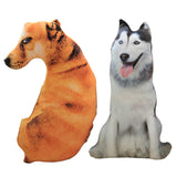 50cm Cute Simulation Dog Plush Toy 3D Printing Stuffed Animal pillow