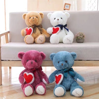 Soft Stuffed Bear Plush Toys Teddy Bear Doll with Big Heart for Girls