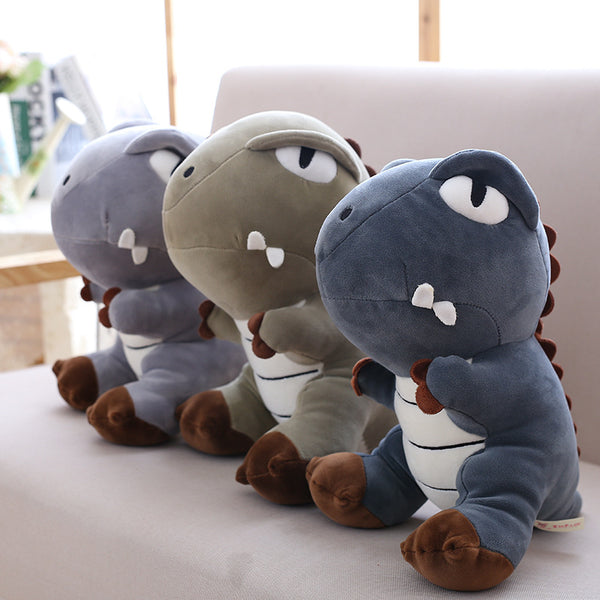 Super Cute Plush Dinosaur Toy Soft Cartoon Stuffed Animal Pillow