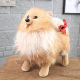 Realistic Cute Stuffed Dog Toy Plush Puppy Animal Pillow Gift for Kids Pomeranian