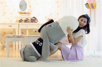 Giant Cute Stuffed Donkey Pillow Super Soft Plush Animal Cushion
