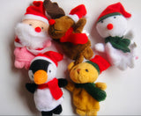 5pcs Christmas Santa Claus Friends Finger Plush Toys Finger Puppets