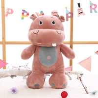 Cute Cartoon Hippo Plush Doll Pillow Soft Stuffed Animals Toy for Kids