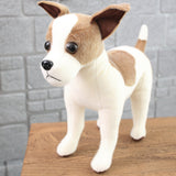 Realistic Cute Stuffed Dog Toy Plush Puppy Animal Pillow Gift for Kids Jack Russell Terrier