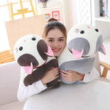 70cm Lying Cat Plush Toys Stuffed Cute Emoji Cat Doll