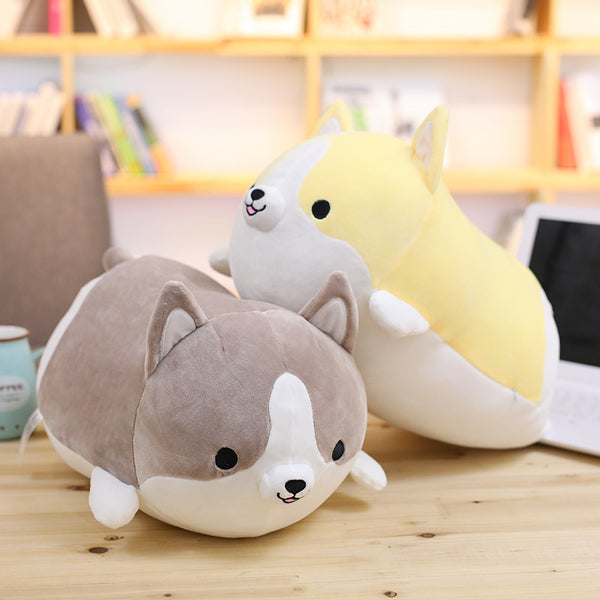 Cute Plush Dog Toy Corgi Stuffed Doll  Animal Cartoon Pillow Baby Gift