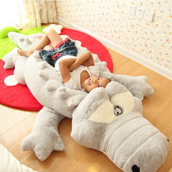 Giant Crocodile Lying Section Plush Pillow Soft Stuffed Animal Toy