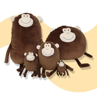 Lovely Cute Round Monkey Plush Toy Stuffed Cartoon Animal Pillow