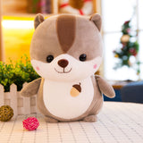 Large Soft Cute Cartoon Squirrel Plush Toy Stuffed Kids Animal Pillow