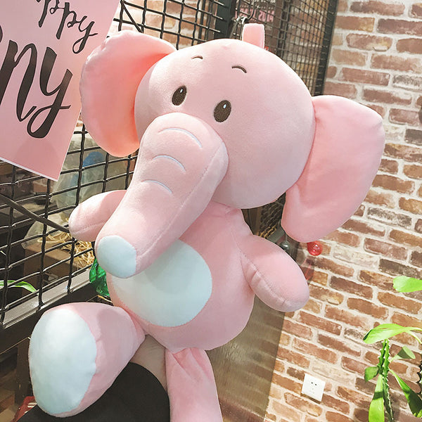 Soft Plush Elephant Toy Cute Stuffed Animal Pillow Kids Birthday Gift