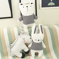 Nordic Style Bunny Unicorn Bear Pillow Cotton Animal Plush Toys