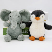 Cute Plush Elephant Penguin Doll Kids Lovely Stuffed Pig Duck Owl Toy