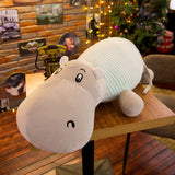 Plush Hippo Dolls Stuffed Animal Soft Comfortable Pillow Baby Toy