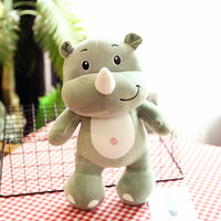 Cute Elephant Plush Toy Kids Birthday Gifts Stuffed Hippo Pillow