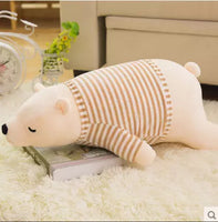 Cute Plush Soft Polar Bear Toy Kids Sleeping Doll Stuffed Cushion