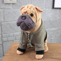 Realistic Cute Stuffed Dog Toy Plush Puppy Animal Pillow Gift for Kids Bulldog