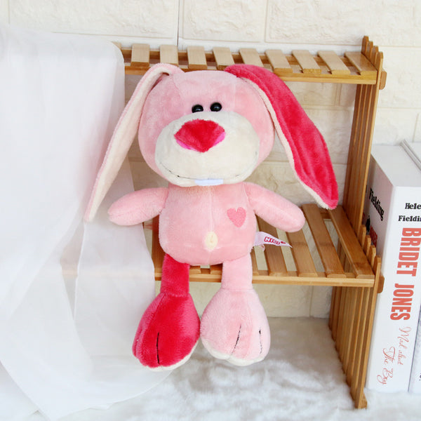Lovely Pink Dog Bunny Plush Toys Soft Stuffed Lion Elephant Kids Doll