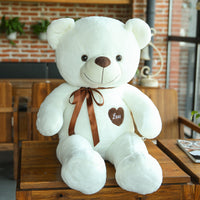 Soft Cute Plush Teddy Bear with Heart Stuffed Bear Pillow Kids Toy