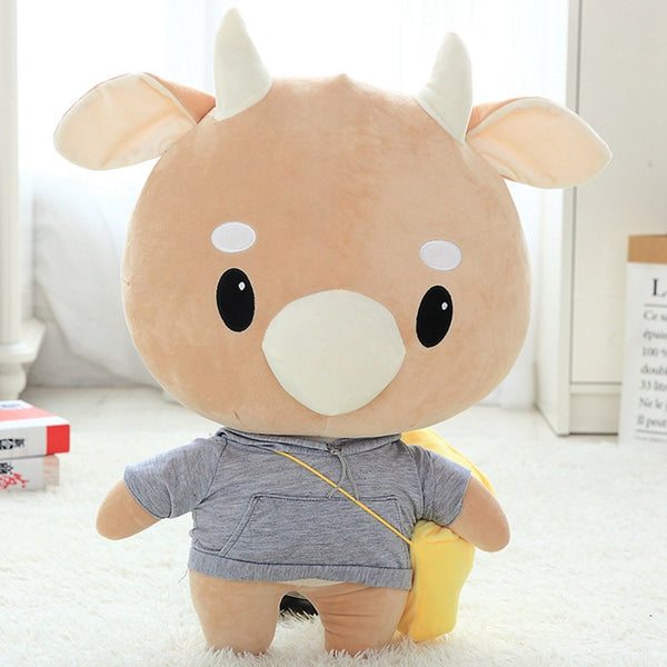 Super Cute Cattle Plush Toy Girls Favourite Stuffed Dolls