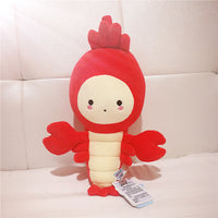 Super Cute Plush Toy Lovely Cartoon Lobster Soft Stuffed Doll Pillow