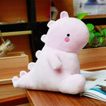Cartoon Pink Dinosaur Plush Toys Cute Stuffed Animal Pillow for Kids