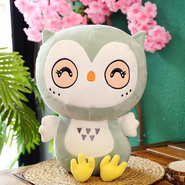 Plush Soft Lovely Pink Owl Pillow Stuffed Animal Doll Cute Kids Gifts