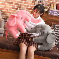 Lovely Pink Stuffed Elephant Pillow Plush Animal Doll Kids Toy