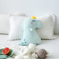 Plush Soft Cute Cartoon Pink Dinosaur Pillow Stuffed Animal Toy