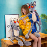 Cute Funny Grey Wolf Plush Toy Stuffed Animal Doll Birthday Gifts