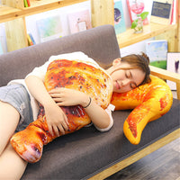 Giant Plush Food Grilled Fish Chicken Leg Stuffed Pillow Kids Toy